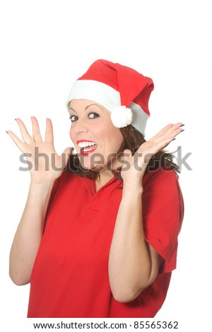 surprise Christmas girl