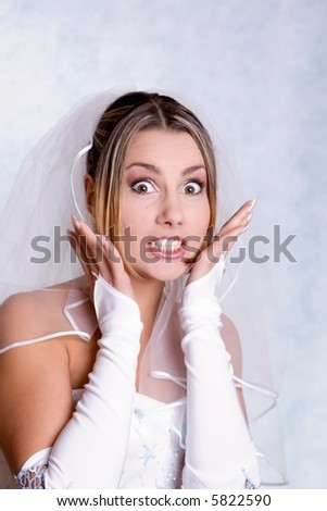 surprised bride