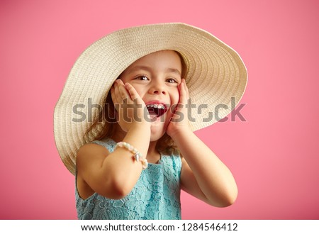 bcd03a9e9 Cute little girl with open mouth, surprised Images and Stock Photos ...