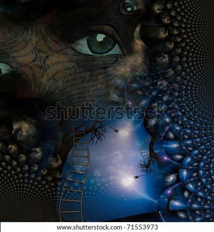 Surreal Abstract with human elements