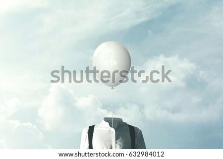 surreal minimalist lightness concept ストックフォト ©