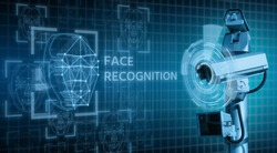 Surveillance CCTV camera with face recognition system