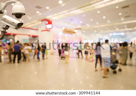 Surveillance Security Camera or CCTV in event hall