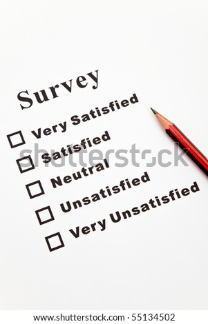 Survey and questionnaire, business concept