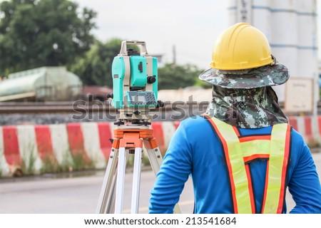 Survey crew working