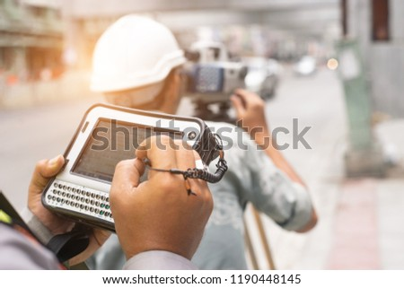 Survey equipment camera tool for Civil Engineer to surveying #1190448145