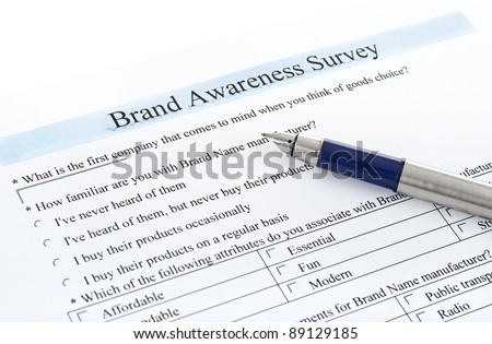 "survey form ""brand awareness survey"""