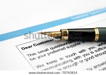 Survey form- customer letter