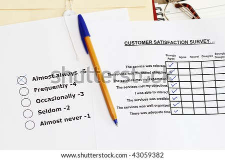 Survey materials - many uses for product and services.