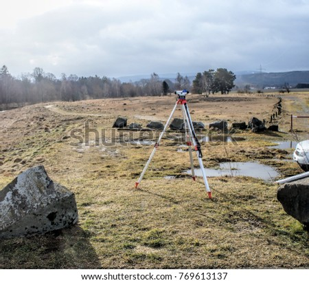Surveying of slag heaps on the river