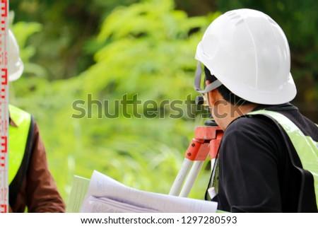 Surveyor engineer,Check the level,Professional level check #1297280593