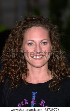 Survivor II star JERRI MANTHEY at the US premiere, in Hollywood, of Crocodile Dundee in Los Angeles. 18APR2001.    Paul Smith/Featureflash