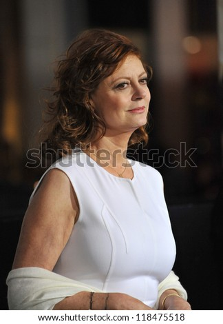 "Susan Sarandon at the Los Angeles premiere of ""Cloud Atlas"" at Grauman's Chinese Theatre, Hollywood. October 24, 2012  Los Angeles, CA Picture: Paul Smith - stock photo"