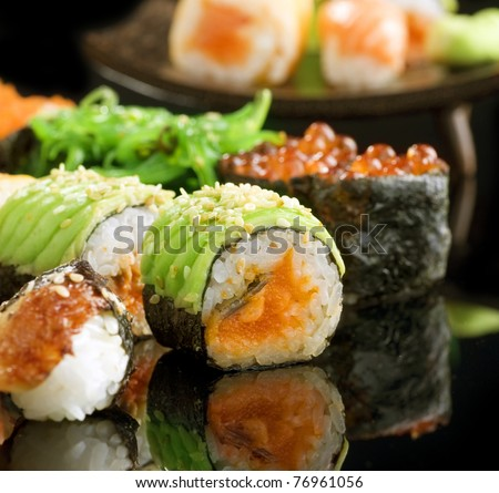Sushi and Rolls closeup