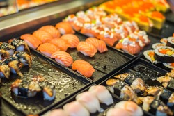 Sushi in fresh market.