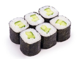 sushi, isolated on white