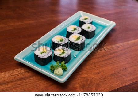 Sushi menu rastaurant #1178857030