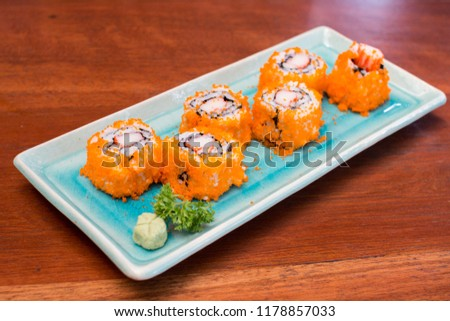 sushi menu rastaurant #1178857033