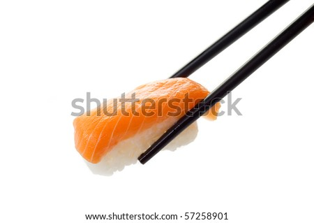 sushi on chopstick