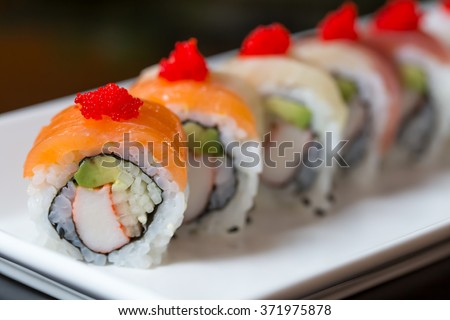 Sushi set, Japanese food