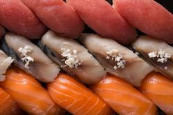 sushi set top view