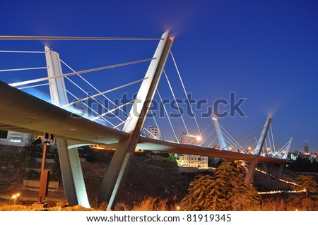 Suspended bridge in Jordan