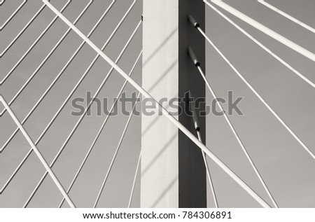 suspension bridge abstract