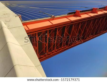 suspension bridge, beautiful bridge on the background #1572179371