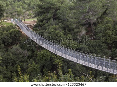 Suspension bridge in Haifa, Israel