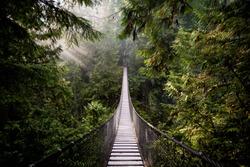 Suspension Bridge in North Vancouver, Canada