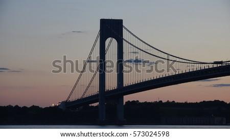 Suspension Bridge Night #573024598