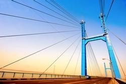 Suspension bridge on Huanghe River