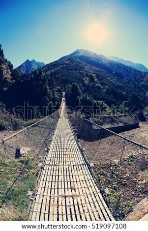 suspension bridge over the...