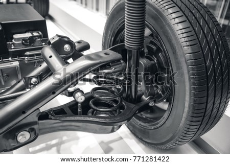 suspension system of the car #771281422