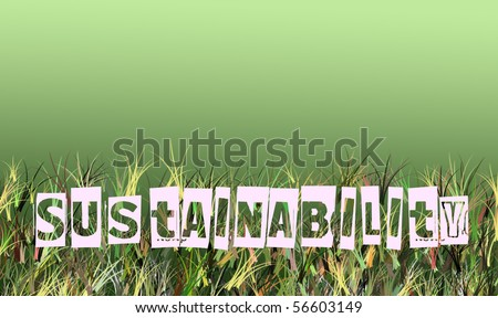 sustainability and green thinking  illustration concept