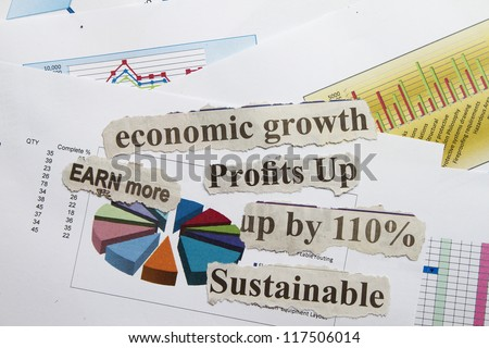 Sustainable cut out with financial formula abstract.