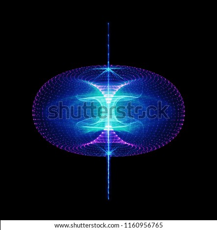 Sustainable high particle energy flow through a torus. Magnetic field, singularity, gravitational waves and spacetime concept Сток-фото ©