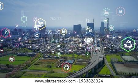 Sustainable society concept. Environmental technology. Sustainable development goals. SDGs.