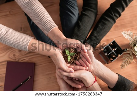 Sustaining green business company trust ecology partners. stock photo