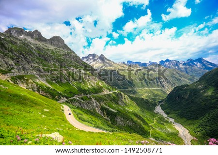 Sustenpass, Switzerland - Landscapes of the mountains and the nature of the Susten region #1492508771