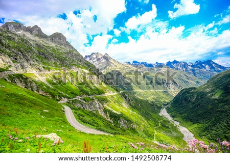 Sustenpass, Switzerland - Landscapes of the mountains and the nature of the Susten region #1492508774