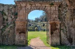 Sutri, Roman Amphitheatre Entrance Gate