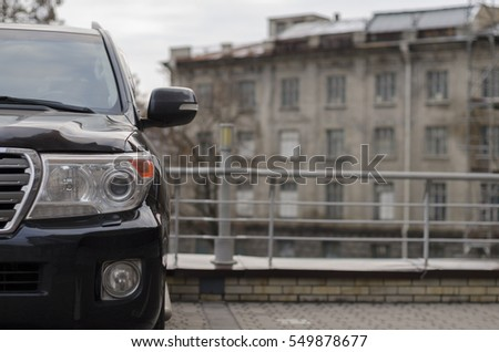 SUV parked on street #549878677