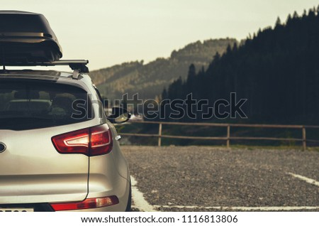 SUV with roof rack #1116813806