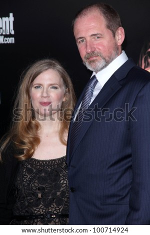 "Suzanne Collins at ""The Hunger Games"" Los Angeles Premiere, Nokia Theater, Los Angeles, CA 03-12-12 - stock photo"