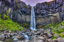Svartifoss( Black Fall) in Skaftafell, Iceland