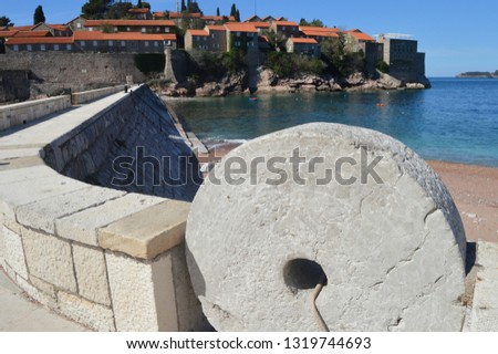 Sveti Stefan is luxurious city-hotel that comprises 80 buildings. The rest on resort was very popular with celebrities.At the time here was Bobby Fisher,Sophia loren,Kirk Douglas,Silvester Stallone. #1319744693
