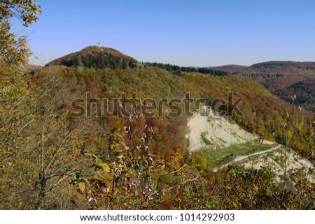 swabian alb; Germany; Rossberg; autumn landscape;