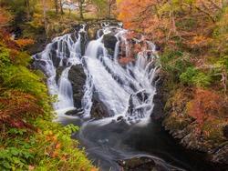 Swallow Falls, Betws-Y-Coed, Snowdonia, Wales