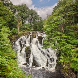 Swallow Falls in the Snowdonia National Park, near Betws y Coed, Conwy,Wales, UK.